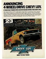 1979 Chevrolet Chevy LUV Yellow Pickup Truck 4X4 4WD Vintage Ad