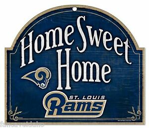 """NFL St Louis Rams Logo Premium 11"""" x 10"""" Solid Wood Arched Sign"""