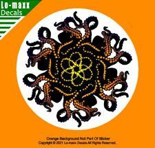 Octopus Tentacle Art Orange Ocean Sea Life Beach & Tropical Printed Vinyl Decal