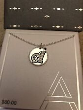 """18"""" INCH FINE SILVER PLATED RHINESTONE LETTER """"A"""" INITIAL CHARM PENDANT NECKLACE"""