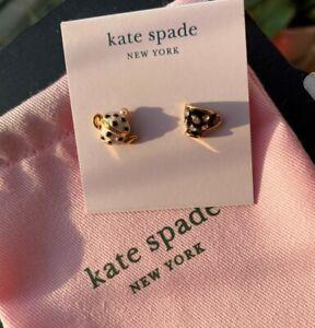 Kate Spade New York Tea Time Stud Earrings Black & White