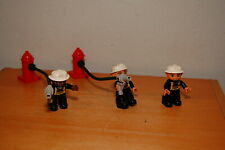 Lot of 7 Pieces Lego Duplo Fireman w/ Accessories Fire Hydrant Hose