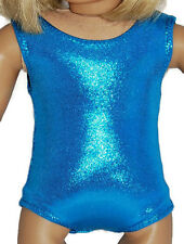 "SHINY OCEAN BLUE LEOTARD Dance/Gymnastics Fits 18"" American Girl Dolls"