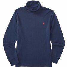 Ralph Lauren Kinder Jungen Turtle Neck Rollkragen T-Shirt dunkelblau navy XL