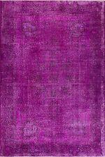6x9 Ft Magenta Pink Purple Color OVERDYED Handmade Vintage Turkish Rug   a88