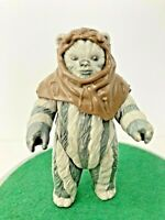 Vintage ©1984 Kenner Star Wars ROTJ Teebo EWOK Action Figure (Chief Chirpa Hood)