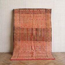 Vintage Retro Moroccan Flat Woven Silk Kilim Rug 154 x 94cm