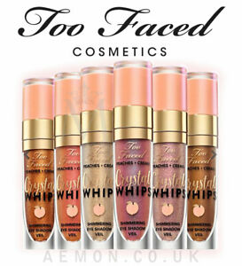 Too Faced Crystal Whips Shimmering Liquid Eye Shadow – Peaches and Cream Collect
