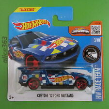 Hot wheels 2016-Custom'12 Ford Mustang-HW race team - 3-NEUF dans emballage d'origine