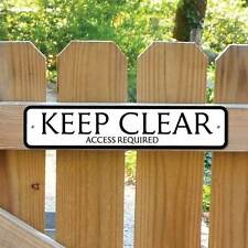 KEEP CLEAR Sign Access Required Robust Gate Sign No Entry Sign,No Parking Sign