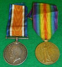 WWI First World War Navy Medal Pair E. J. James A.B. Mercantile Fleet Auxiliary
