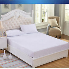 Luxury waterproof brushed cotton mattress protector, Double, 135x190x32cms