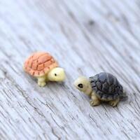 2X Diy Miniatur Garten Mini Schildkröten Verzierung Puppenstuben Pflanze Figurin