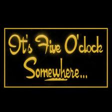 170038 It's 5 O'Clock Somewhere Margarita Extravaganza Display Led Light Sign
