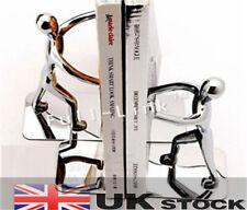 Metal Bookend Human Book Ends Holder Desk Stand Organizer Stainless Steel Shelf
