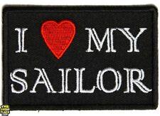 BRAND NEW I LOVE MY SAILOR  BIKER IRON ON PATCH