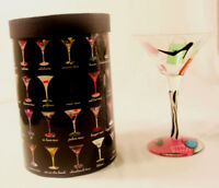 Lolita the Martini Collection Hand Painted Martini Glass 'Shopaholic Too' Gift