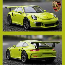 New 2016 Porsche 911 GT3 RS Grass Green WELLY FX 1/24 Scale Diecast Car Model
