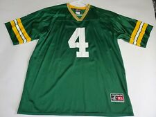 M4 brett favre jersey authentic logo athletic green bay packers #4 large