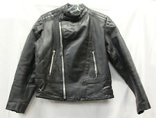 Midnight Rider Mens Leather Jacket Motorcycle Coat Vintage 1970-1980 Used Cond