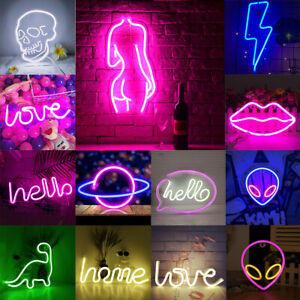 Alien LED Neon Sign Light Wall Visual Artwork Lamp Home Shop Club Bar Pub Decor