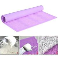 Decorating Fondant Tool Flower Gum Paste Cake Mat Baking Lace Silicone Mold BI