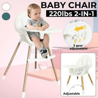 Baby High Chair Transparent Infant Highchair Convertible Kids Dining Snack Seat