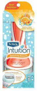 Schick Intuition Revitalizing Moisture Tropical Citrus Razor + 2 Cartridges