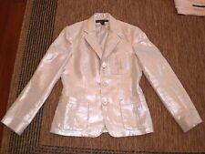 Ralph Lauren Black Label Metallic Silver Blazer Jacket~6~BEAUTIFUL