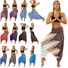 Para Mujeres Harén Pantalones Bombachos Hippie Boho Yoga Indio afgano Genio Aladdin Pantalones
