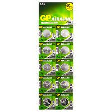 10 x GP Alkaline A76 LR44 batteries 1.5V AG13 303 357 V13GA L1154 SR44 EXP:2019