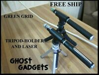 GHOST HUNTING EQUIPMENT LASER HOLDER WITH TRIPOD AND GREEN PARANORMAL GRID