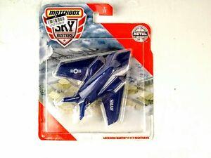Skybusters Blue USAF Lockheed Martin F-117 Nighthawk Diecast Metal Matchbox