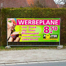 Werbebanner Werbeplane Plane Banner Druck verschiedene Größen 550g//m²