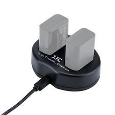 JJC USB Dual Battery Charger for CANON EOS M3,M5,M6,200D,77D,800D,760D (LP-E17)