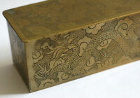 DRAGON, ancienne boite avec 3 dragons, Chine, Asie, pilule, a priser, timbre ...