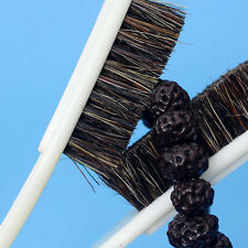 New 6 Row Boar Hair Black Bristle Walnut Olive Clean Brush Hard-brush Hot
