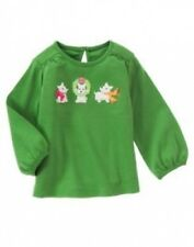NWT~Gymboree CHEERY ALL THE WAY green puppy dog l/s top shirt~3-6