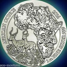 2014 Rwanda IMPALA 1oz Silver Mint Sealed African Wildlife Bullion Coin ANTELOPE