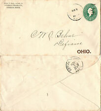 UNITED STATES 1897 ENVELOPE TO OHIO RAILWAY POST OFFICE CANCELLATION