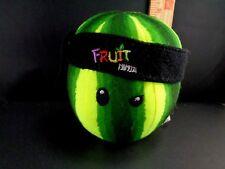 """FRUIT NINJA WATERMELON Plush Melon Headband Sewn Eyes PLUSH STUFFED TOY Soft 6"""""""