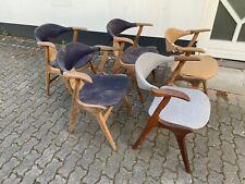 5x Cowhorn Stühle Chair Louis van Teeffelen Webe 60er 70er Teak 60s 70s Vintage