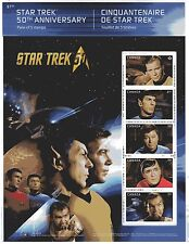 2016 Canada SC# 2912 Star Trek 50th Anniversary - pane of 5 M-NH