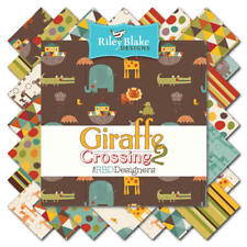 "Riley Blake Giraffe Cross 2, 42 10"" Layer Cake 100% Cotton 10-6150-42"