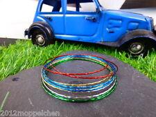Aluminium Armreifen ( 10 Stück ) in mehreren Farben ( Durchmesser 6 cm ) 21 cm