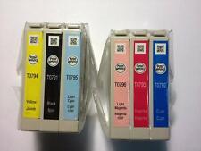 6 Pack (Full Set) Genuine Epson 79 T79 Ink Cartridges For Stylus Photo 1400