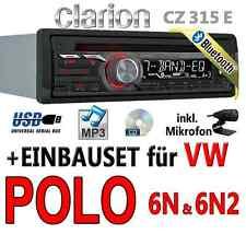 VW Polo 6N + 6N2 - Clarion BLUETOOTH | USB | CD | MP3 | BT  Autoradio Einbauset
