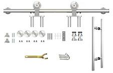 Schiebetürbeschlag Laufsystem Laufschiene Beschlag Set für Schiebetür 200cm