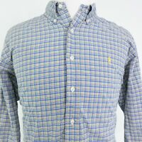 POLO RALPH LAUREN CLASSIC FIT LONG SLEEVE BLUE PLAID BUTTON DOWN SHIRT MENS 2XL