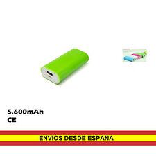 Bateria externa cargador movil 5600mAh Universal USB Smartphone MP3 Camara